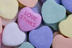 love stinks candy heart